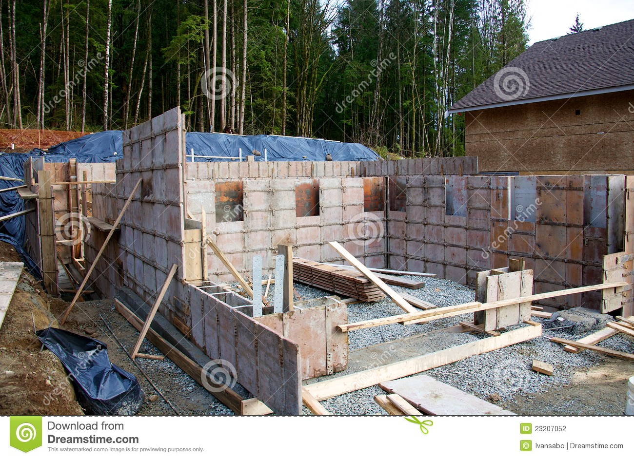 Forms Of House Foundation Stock Photography Image 23207052