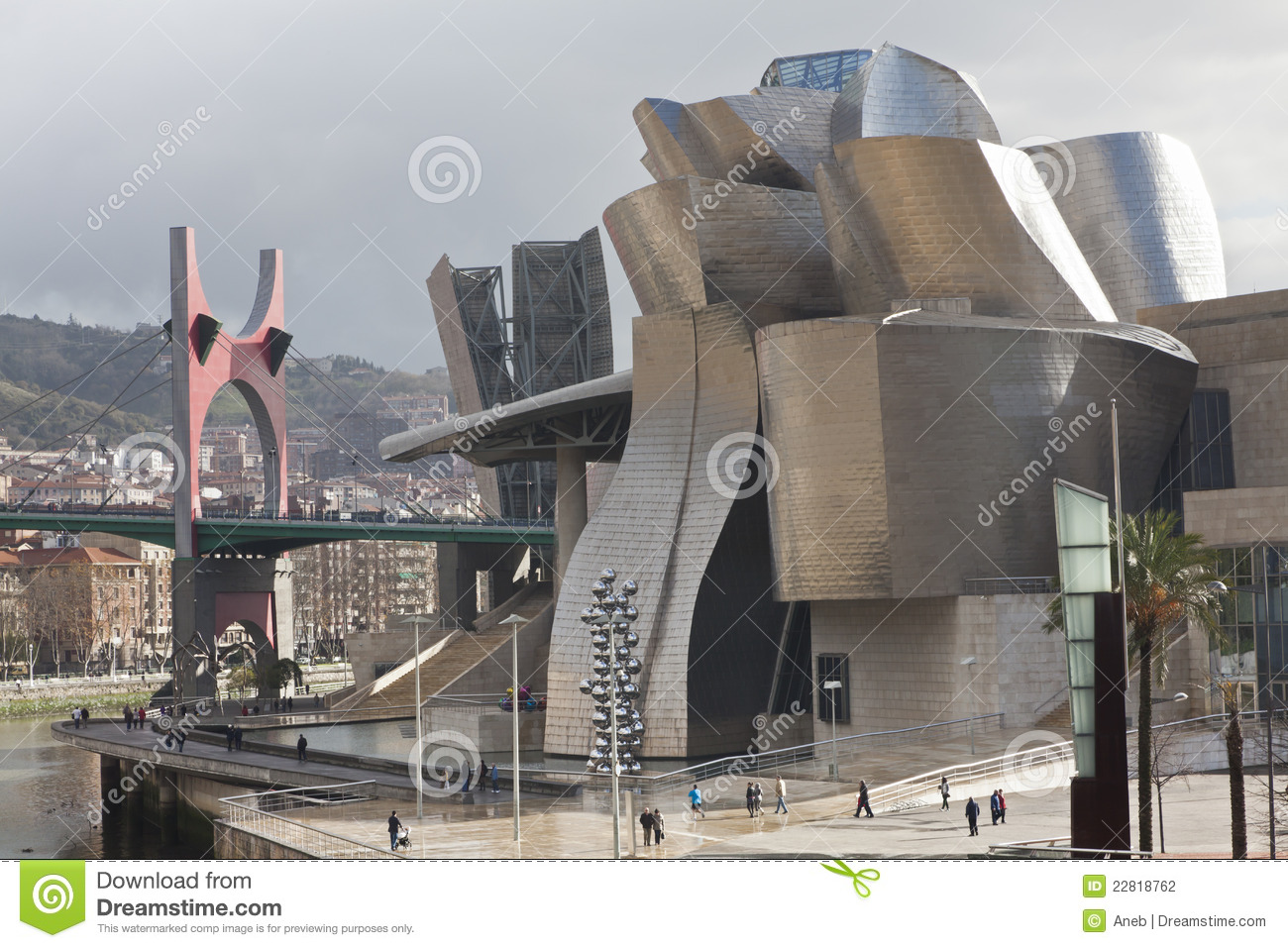 forms of titanium guggenheim museum in bilbao spa editorial photography image 22818762
