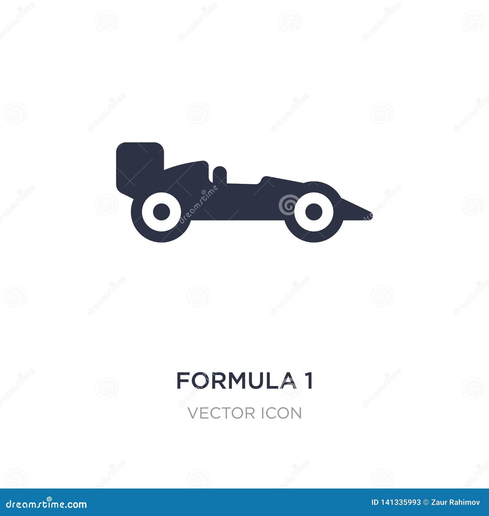 Formuły 1 ikona na białym tle Prosta element ilustracja od Przewiezionego pojęcia