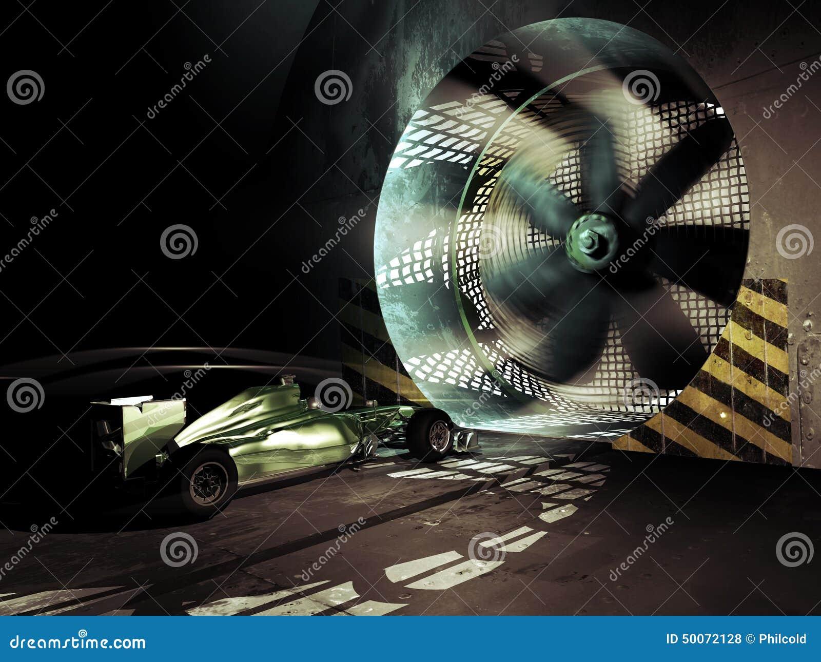 Formuła Jeden wiatrowy tunel
