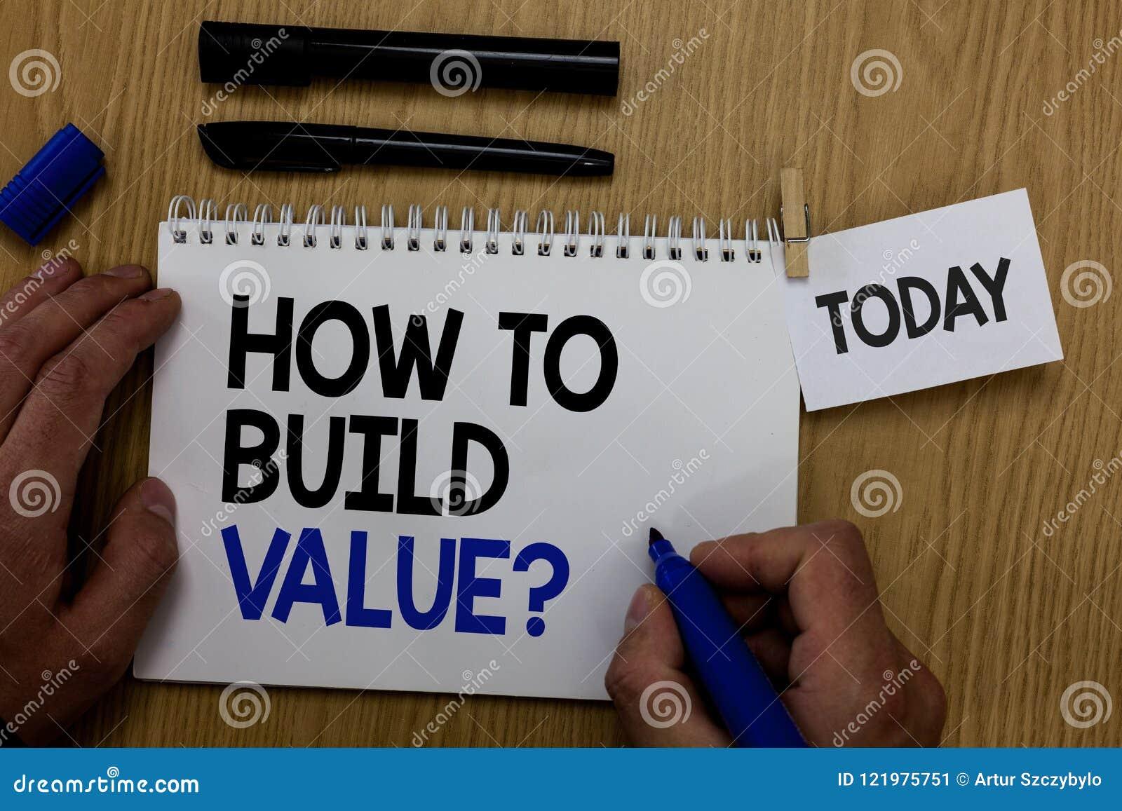 Formułuje writing tekst Dlaczego Budować wartości pytanie Biznesowy pojęcie dla sposobów dla rozwijać narastającego budynek bizne