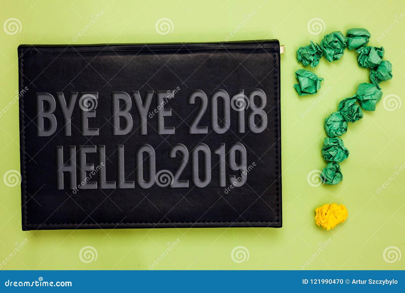 Formułuje writing teksta walkower - walkower 2018 2019 Cześć Biznesowy pojęcie dla Zaczynać nowy rok Motywacyjną wiadomość 2018 j