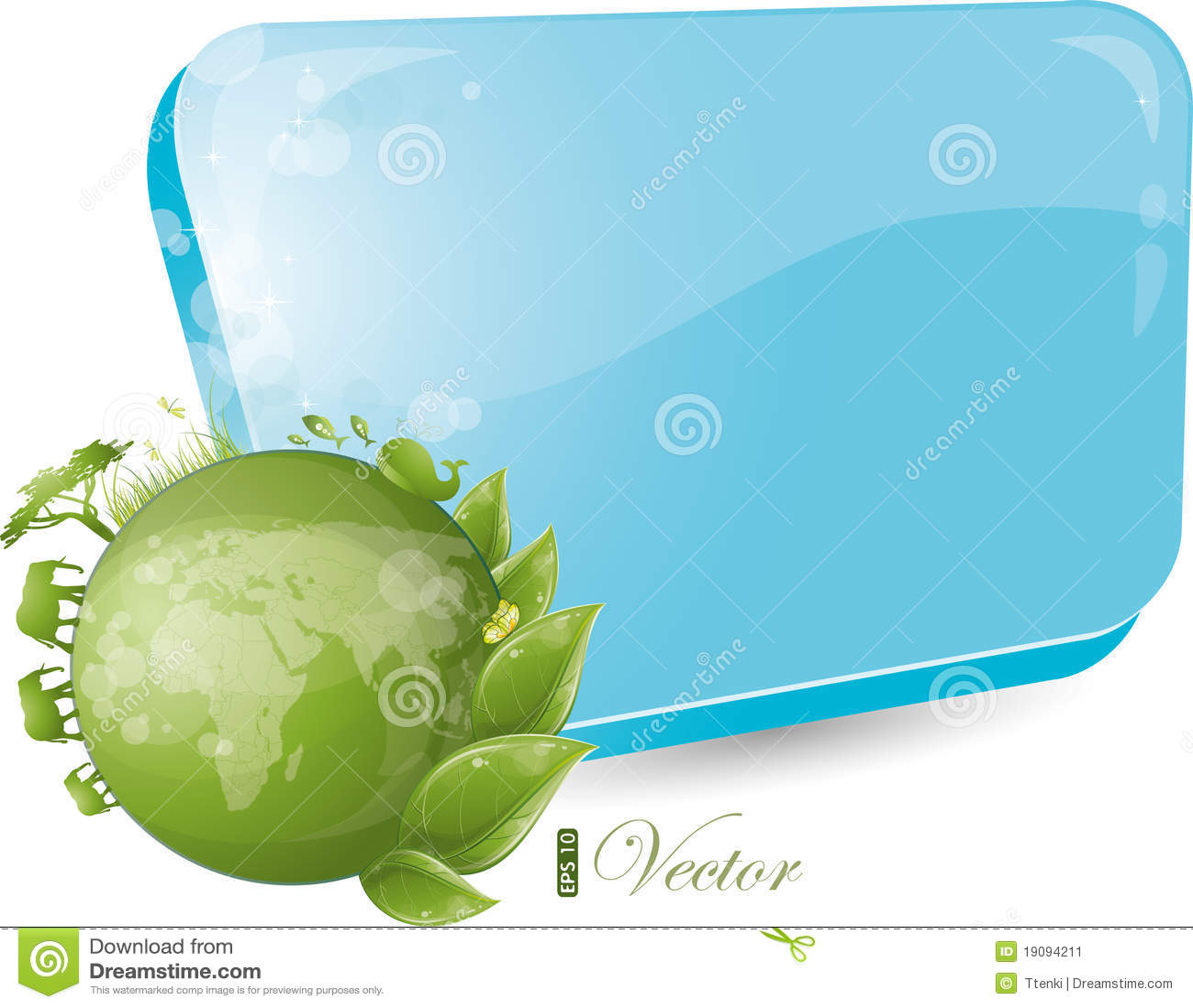 Formulário azul com projeto redondo da natureza