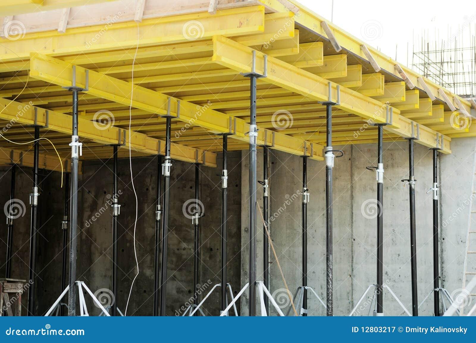 Formulário concreto no canteiro de obras