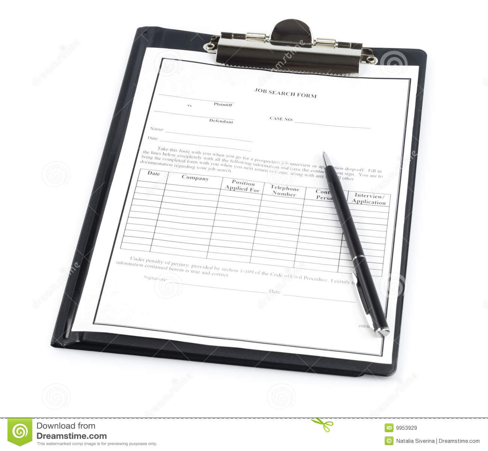 Formulário da busca de trabalho