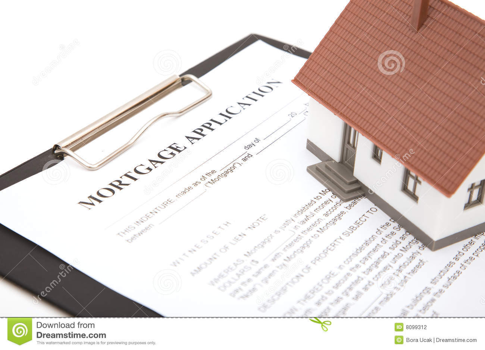 Formulário de aplicação da hipoteca