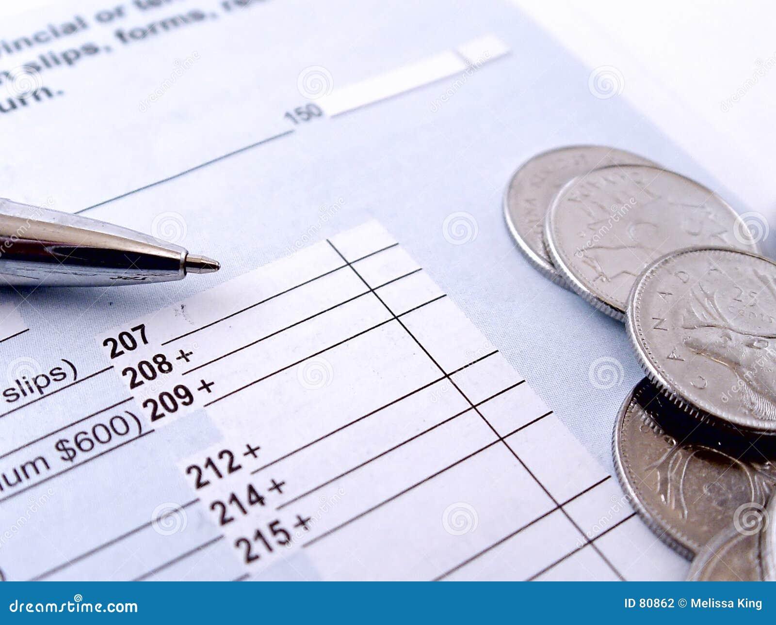 Formulário de imposto da renda