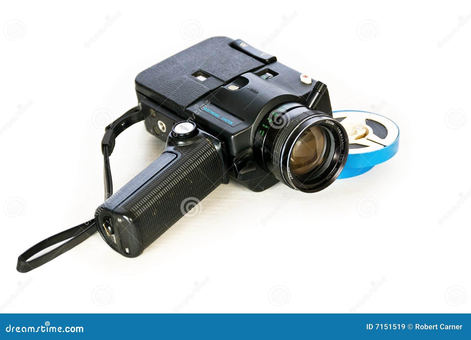 Formulário velho da tecnologia. Câmera de filme de Super-8mm