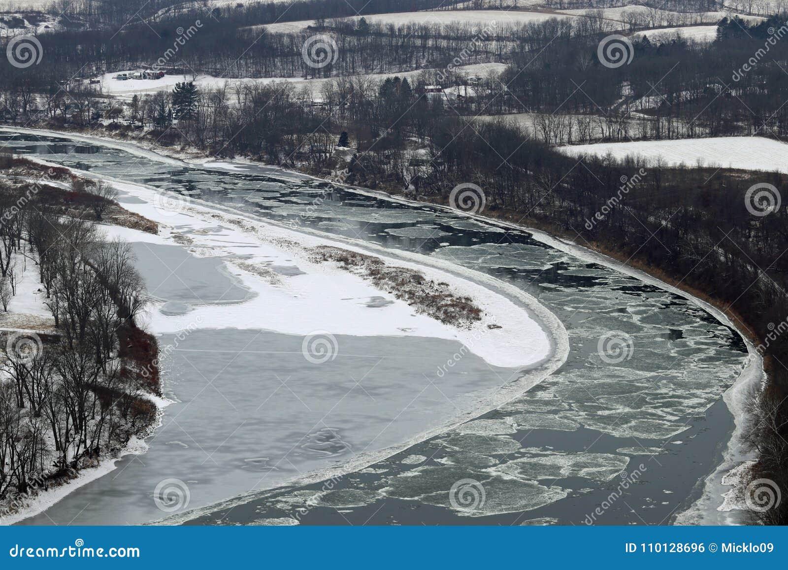 Formulários de flutuação do gelo do Rio Susquehanna