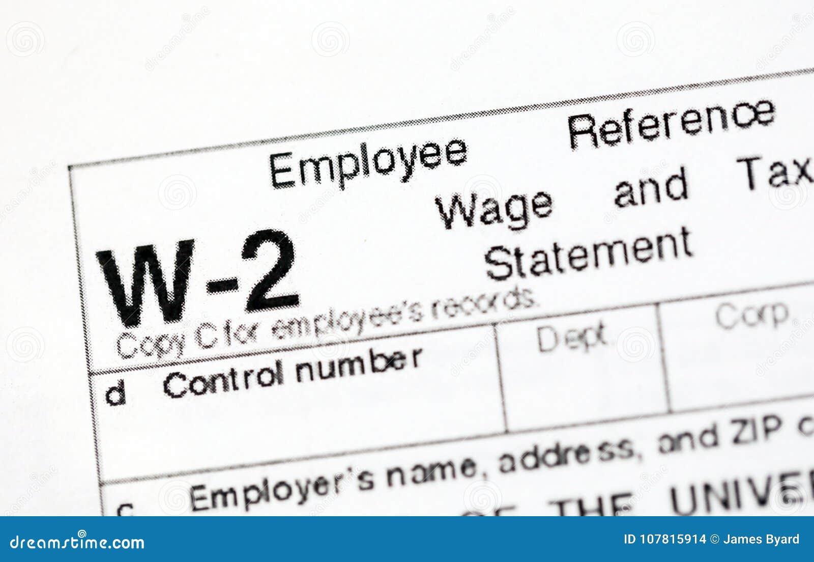Formulários de imposto dos E.U.