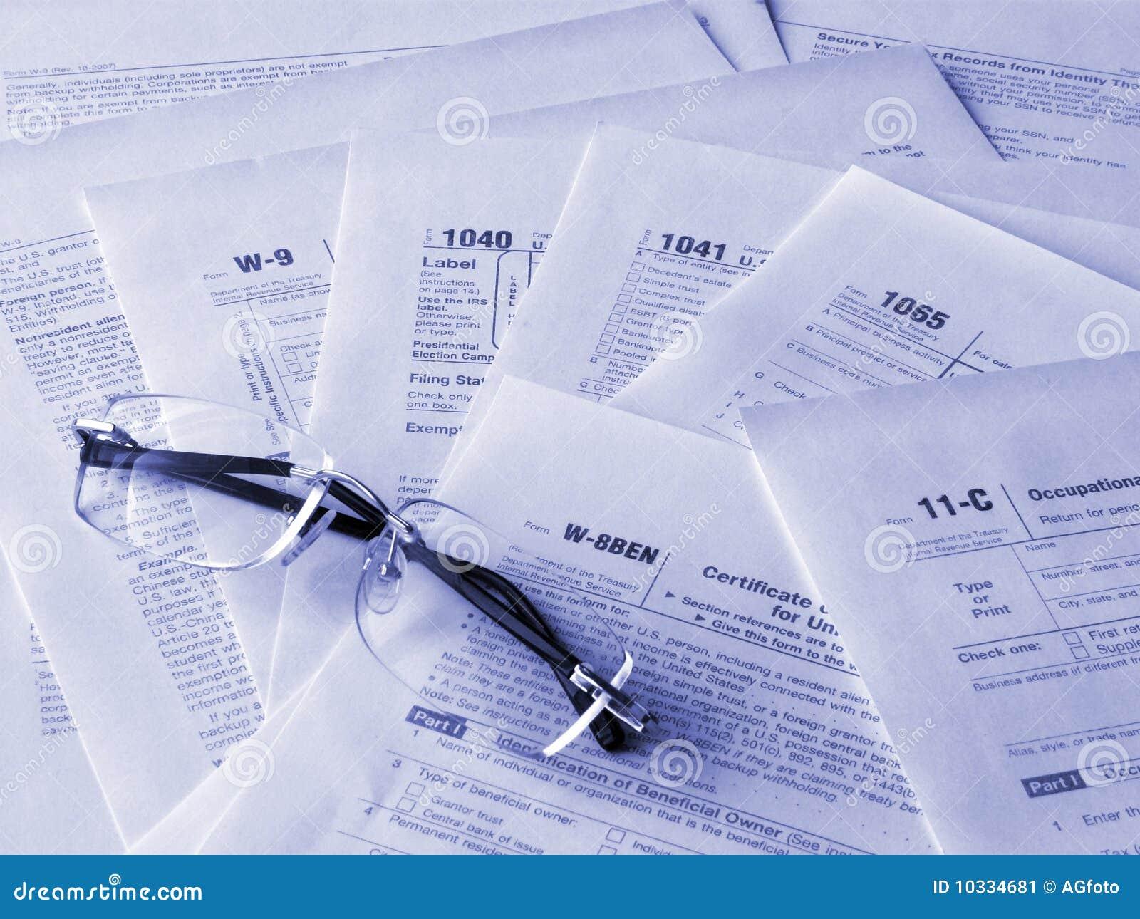 Formulários de impostos