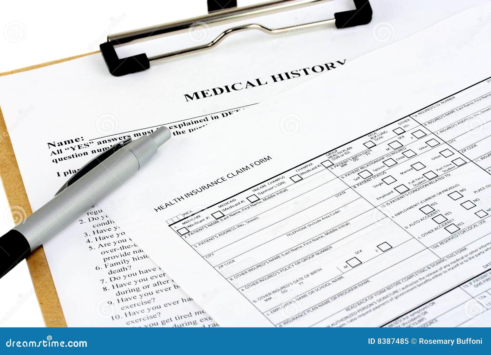 Formulários do seguro