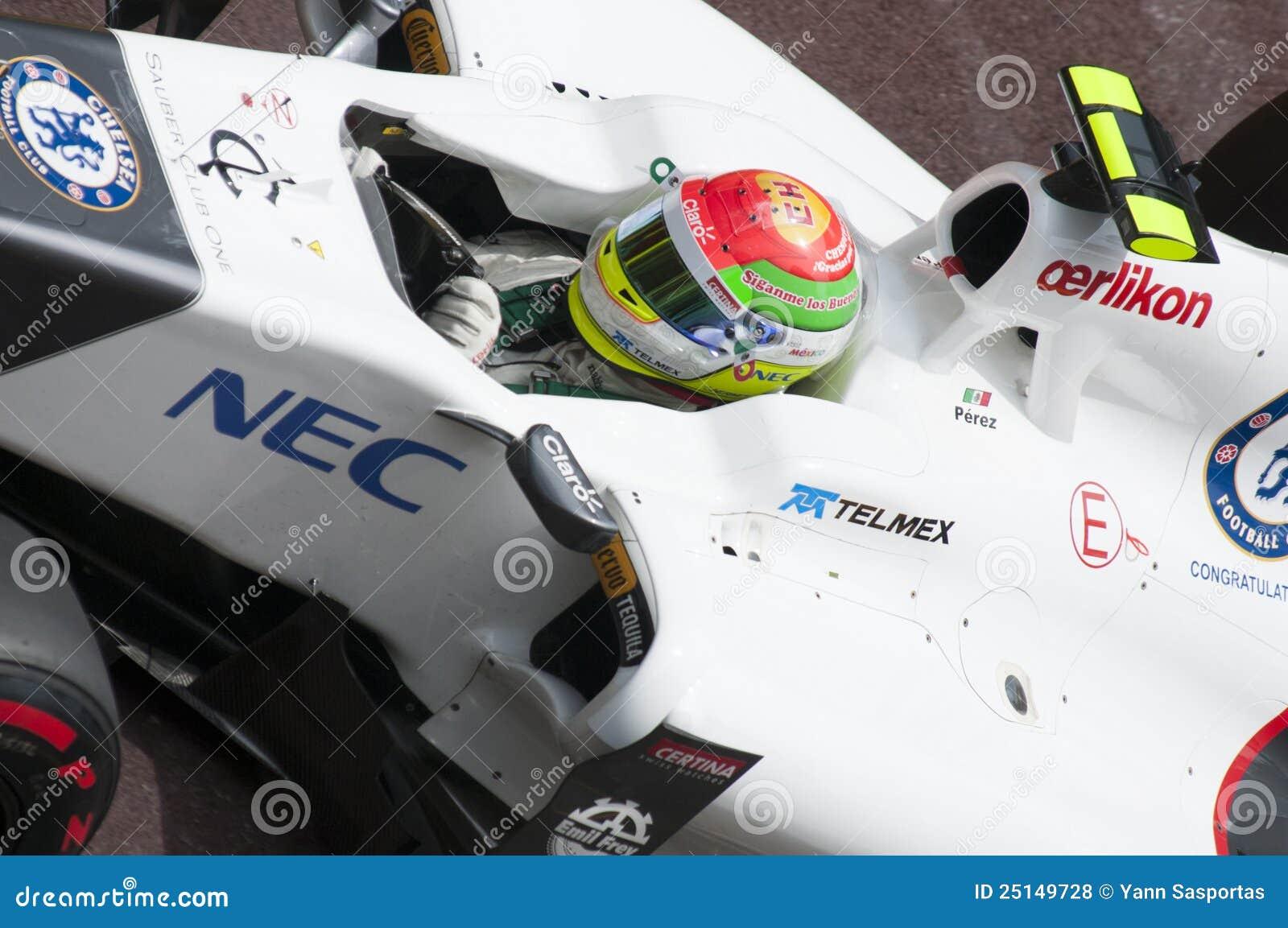 Formula 1 Monaco grande Prix Perez