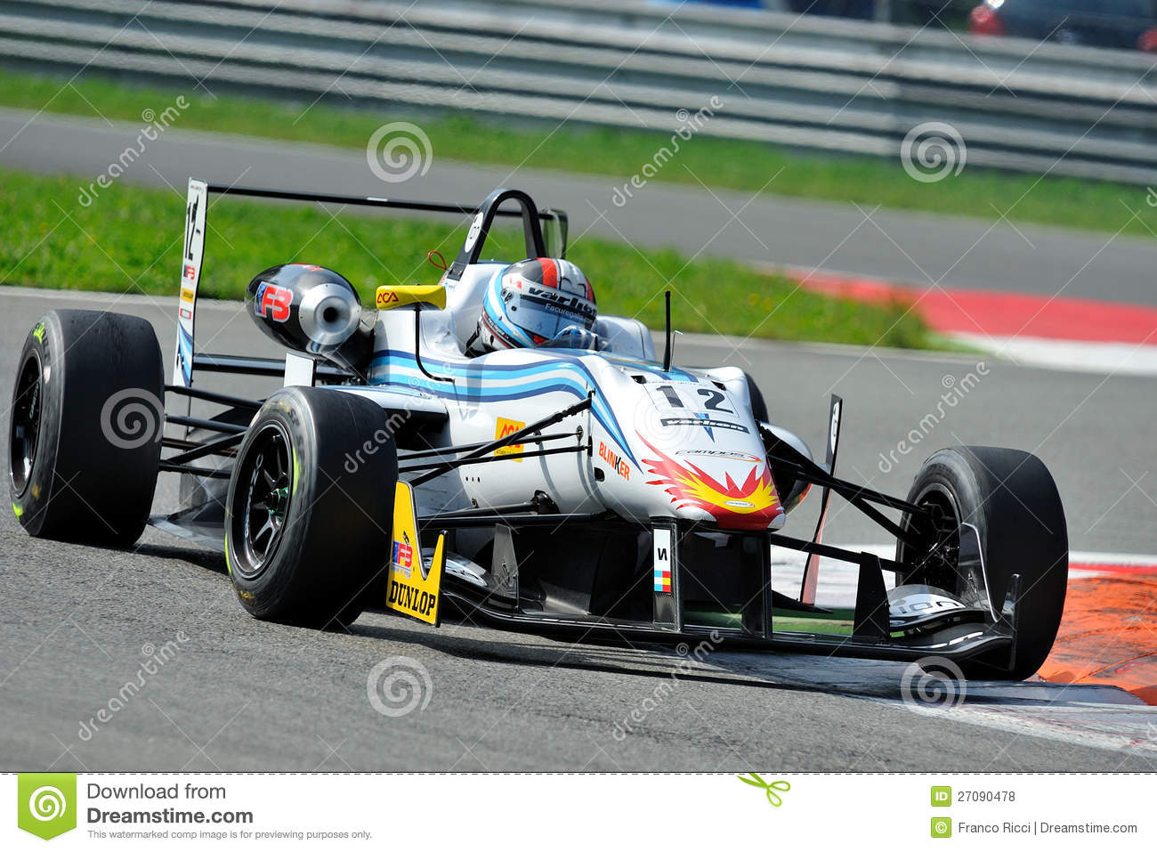 formula 3 race car in monza race track editorial stock photo image 27090478. Black Bedroom Furniture Sets. Home Design Ideas