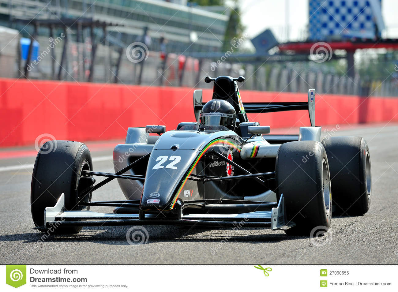 Formula 3 Race Car In Monza Race Track Editorial Image - Image ...