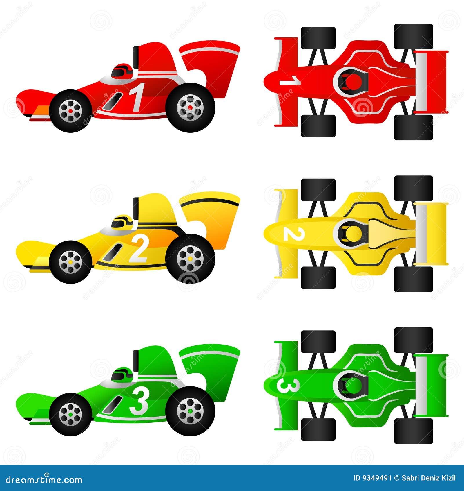 Cartoon formula race car  Race Car Cartoon Top View