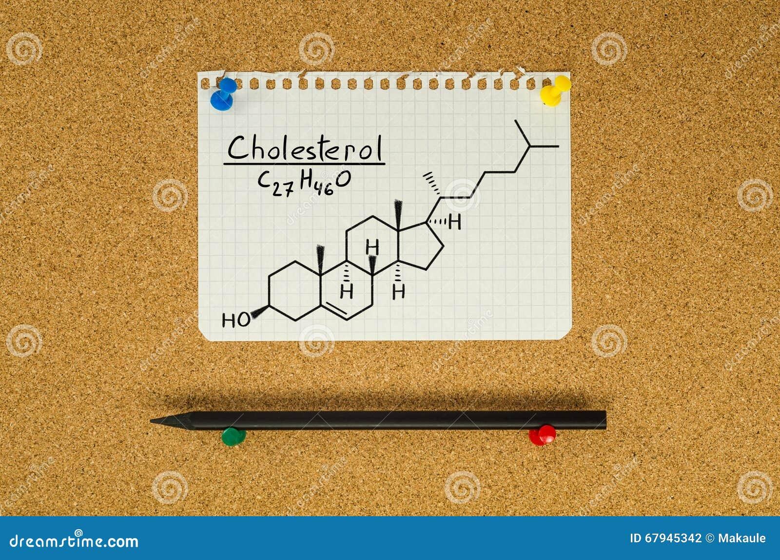 Formula chimica di colesterolo