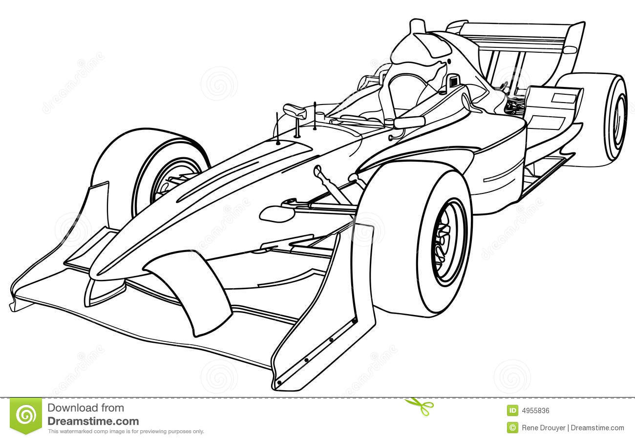 formula one car stock vector illustration of illustration