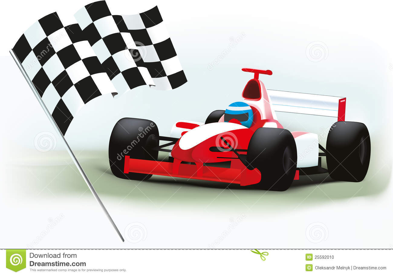 Racing Checkered Flag >> Formula One And Checkered Flag Stock Photo - Image: 25592010