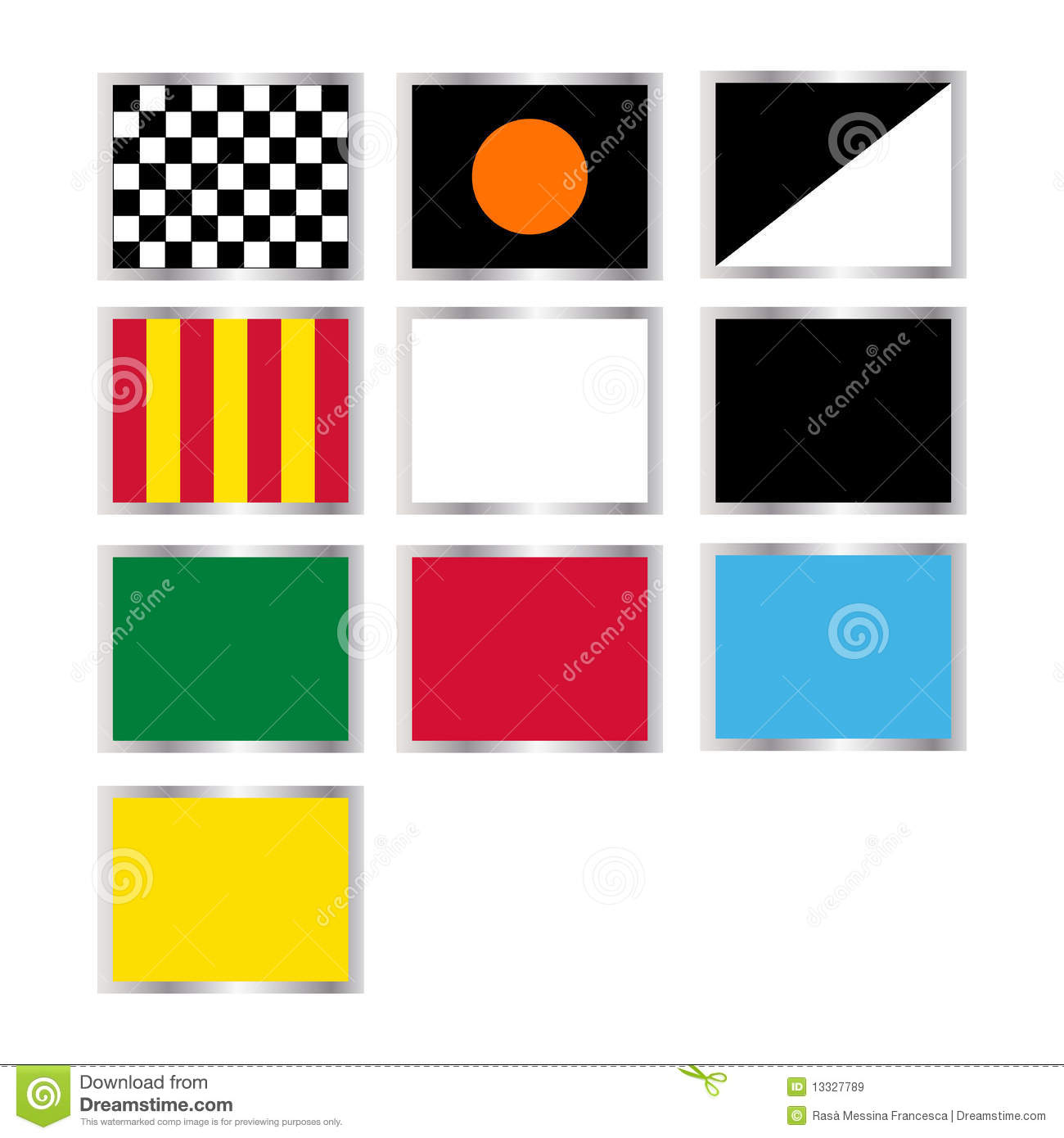 Formula One Flags Royalty Free Stock Images - Image: 13327789