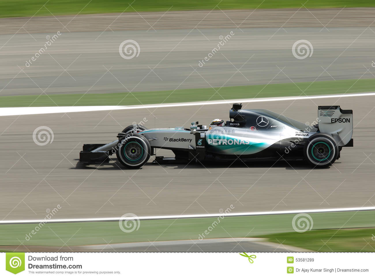 Formula One Gulf Air Bahrain Grand Prix 2015 Editorial Stock Image