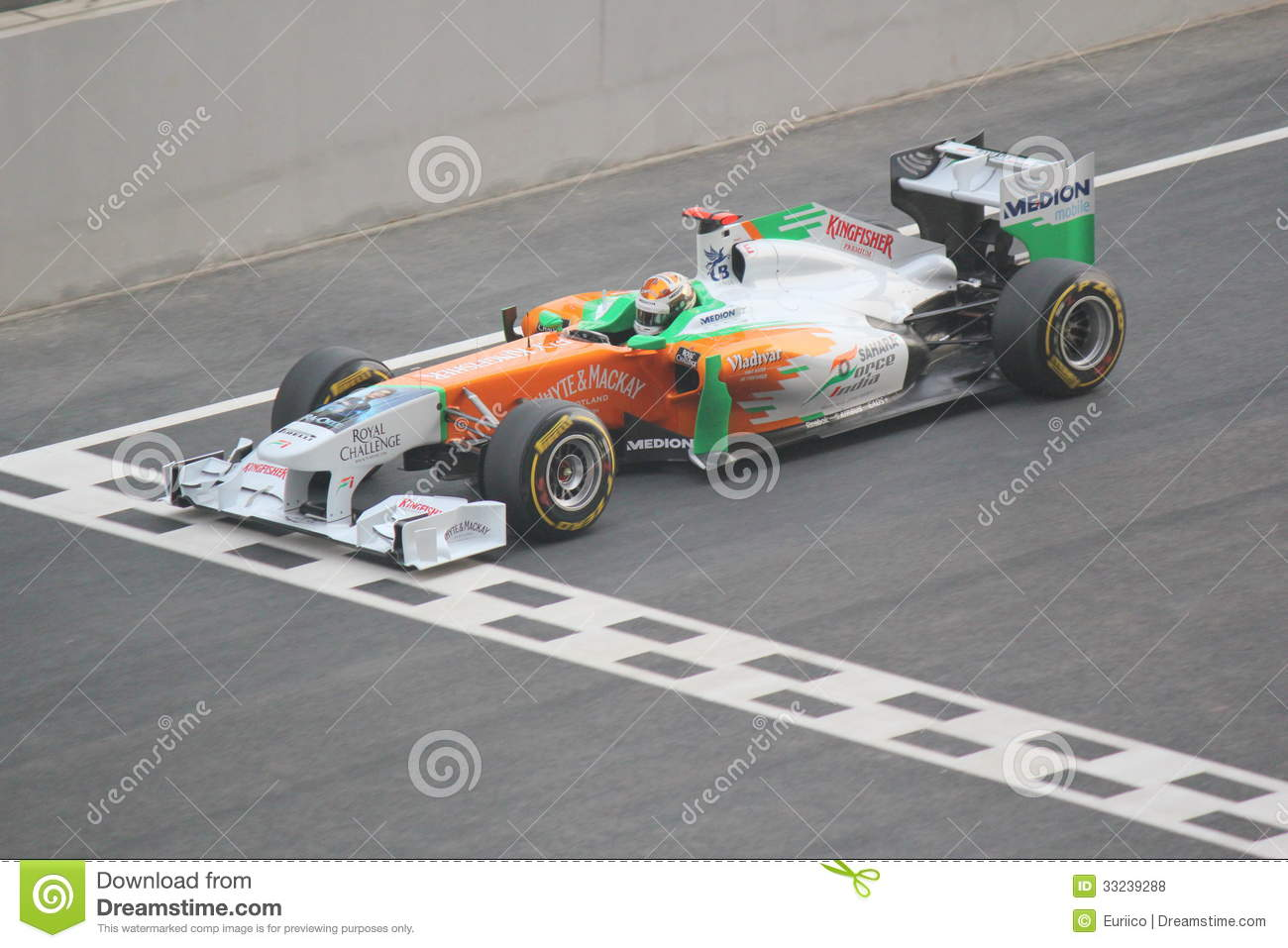 Formula One Racing Car - Start Line