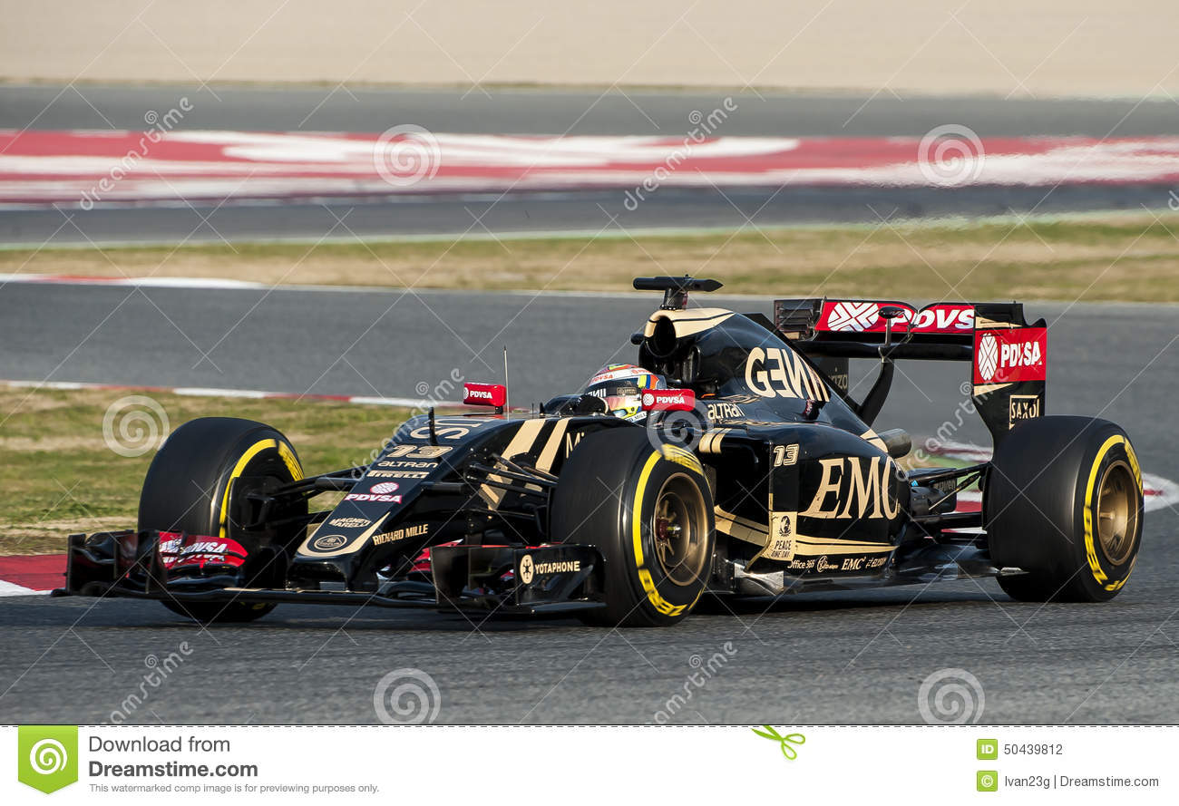 formula one test days pastor maldonado editorial photography image of acceleration racing. Black Bedroom Furniture Sets. Home Design Ideas