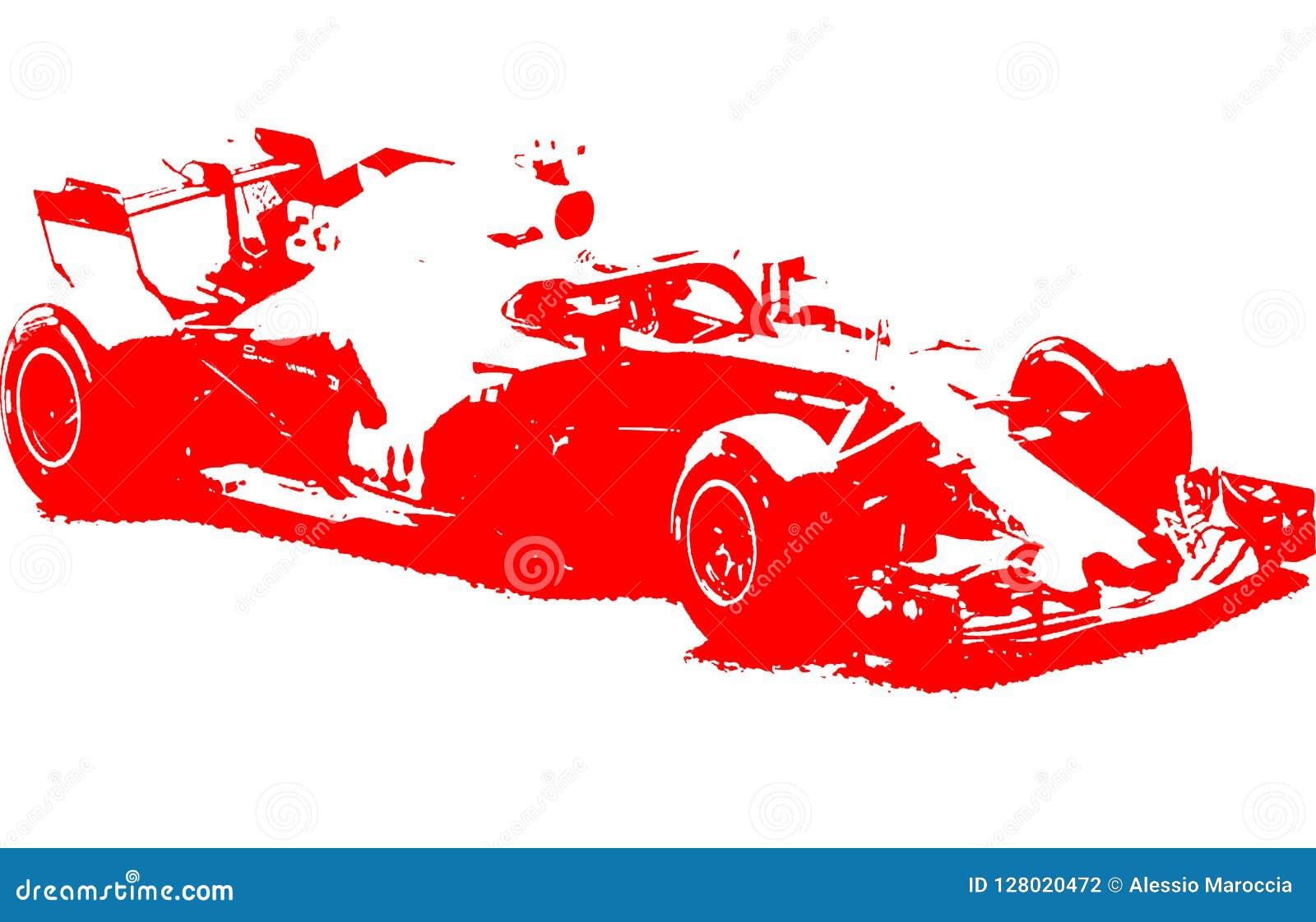 Formula 1 racing car illustration