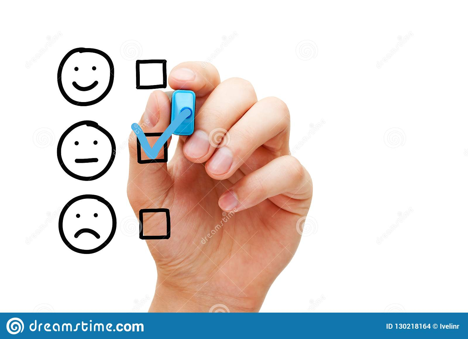 Formulaire d évaluation moyen vide d enquête client