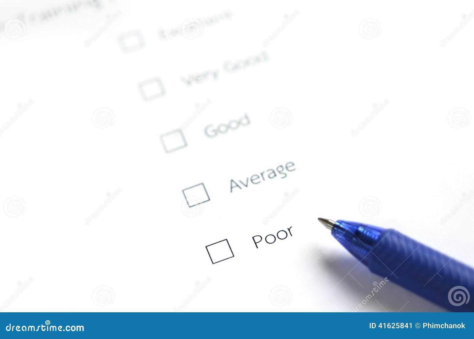 Formulaire d évaluation - pauvres
