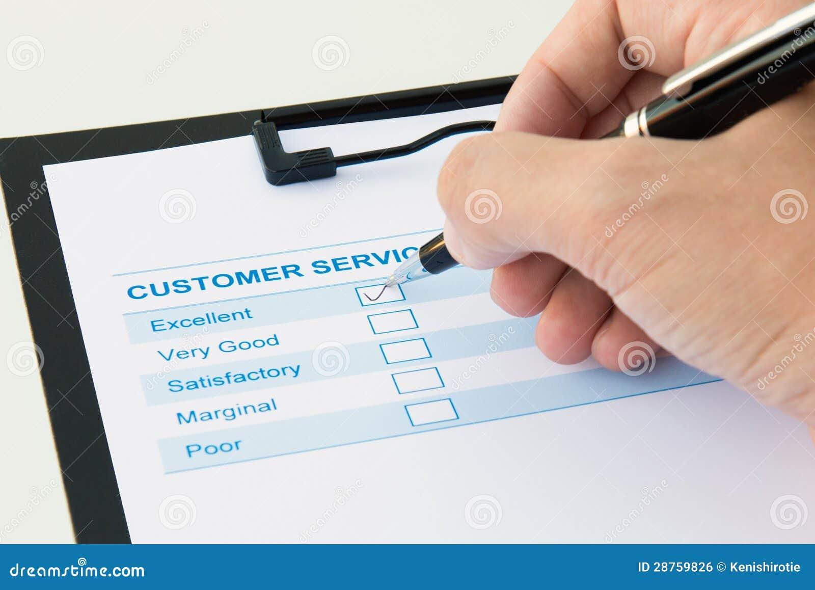 Formulario de evaluación del cliente