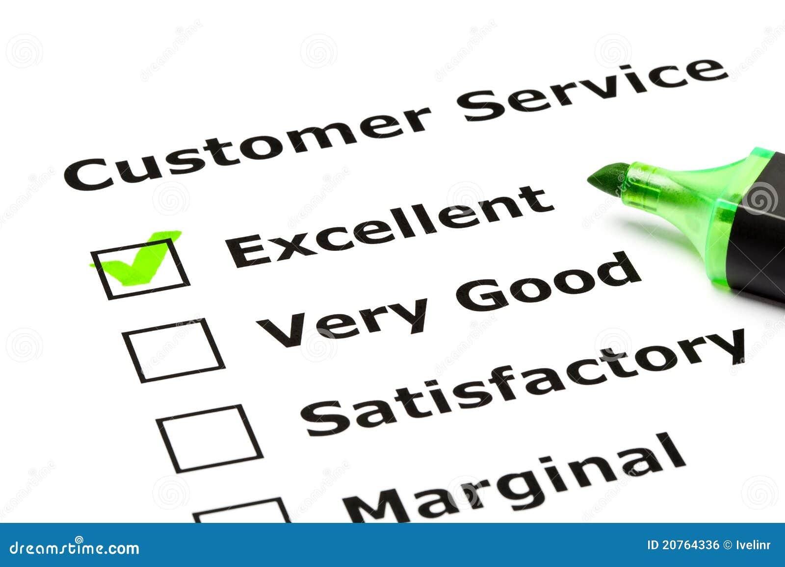 Formulario di valutazione di servizio di assistenza al cliente