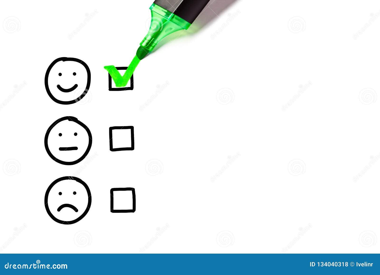 Formulario di valutazione eccellente di servizio di assistenza al cliente dello spazio in bianco