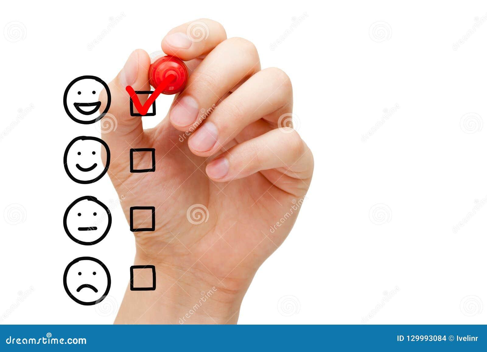 Formulario di valutazione impressionante di servizio di assistenza al cliente