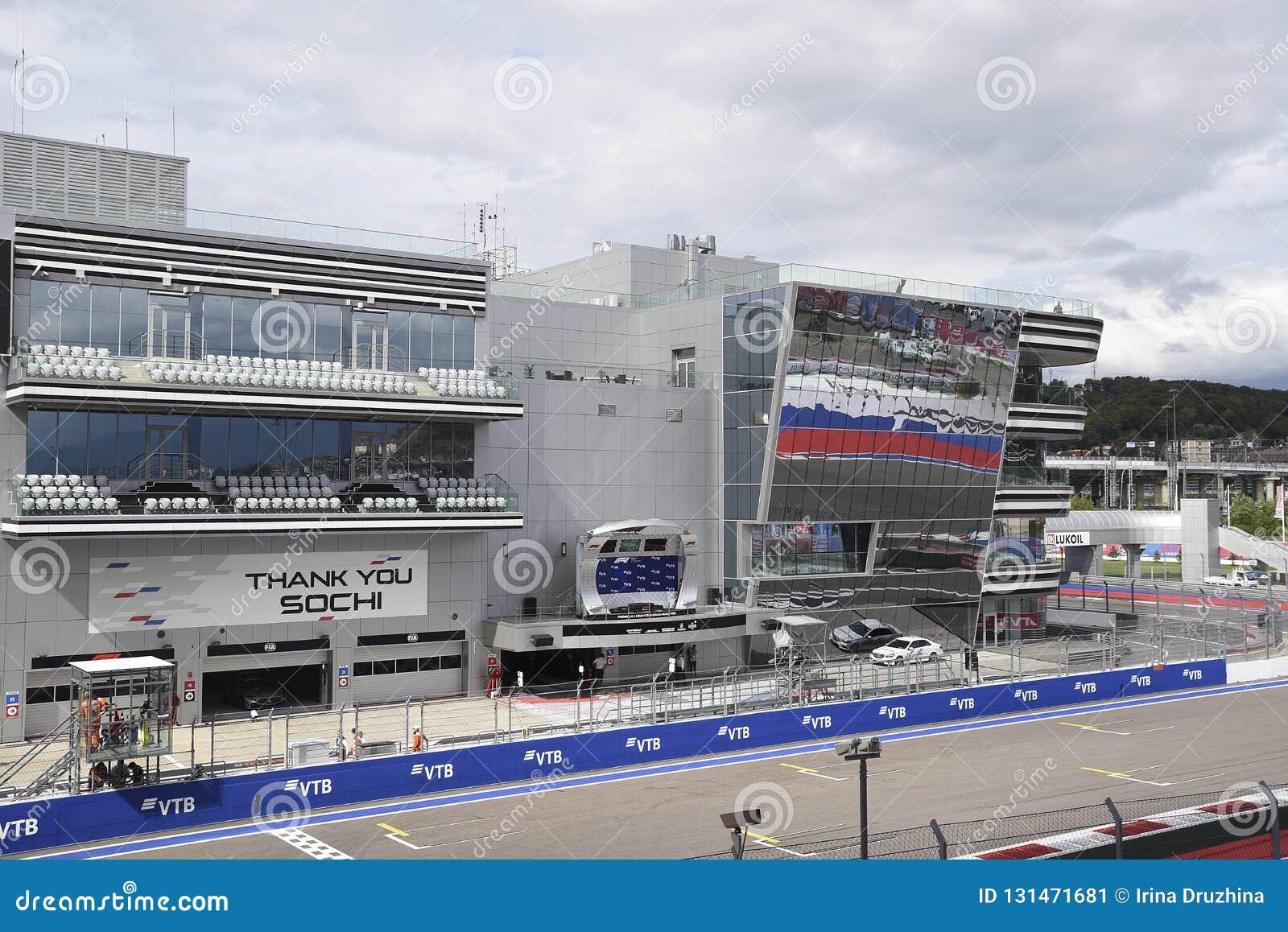 Formule 1 2018 De belangrijkste tribunegrand prix Sotchi 2018