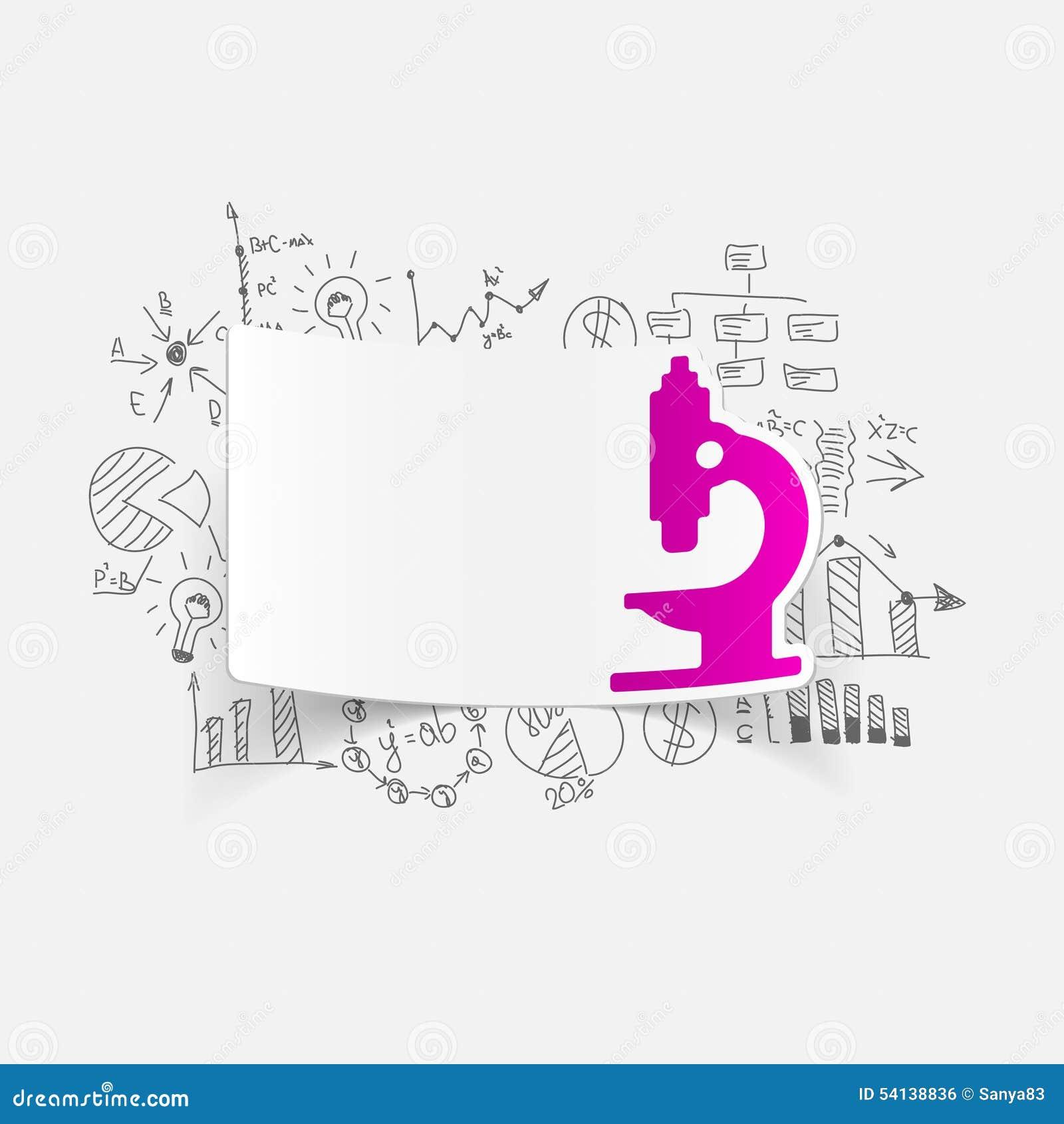 Formule Di Affari Del Disegno: Microscopio Illustrazione Vettoriale ...