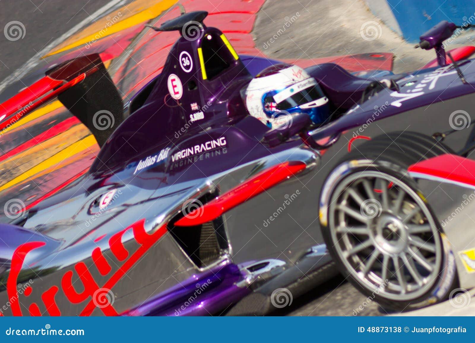 Formule E - Sam Bird - emballage de Vierge