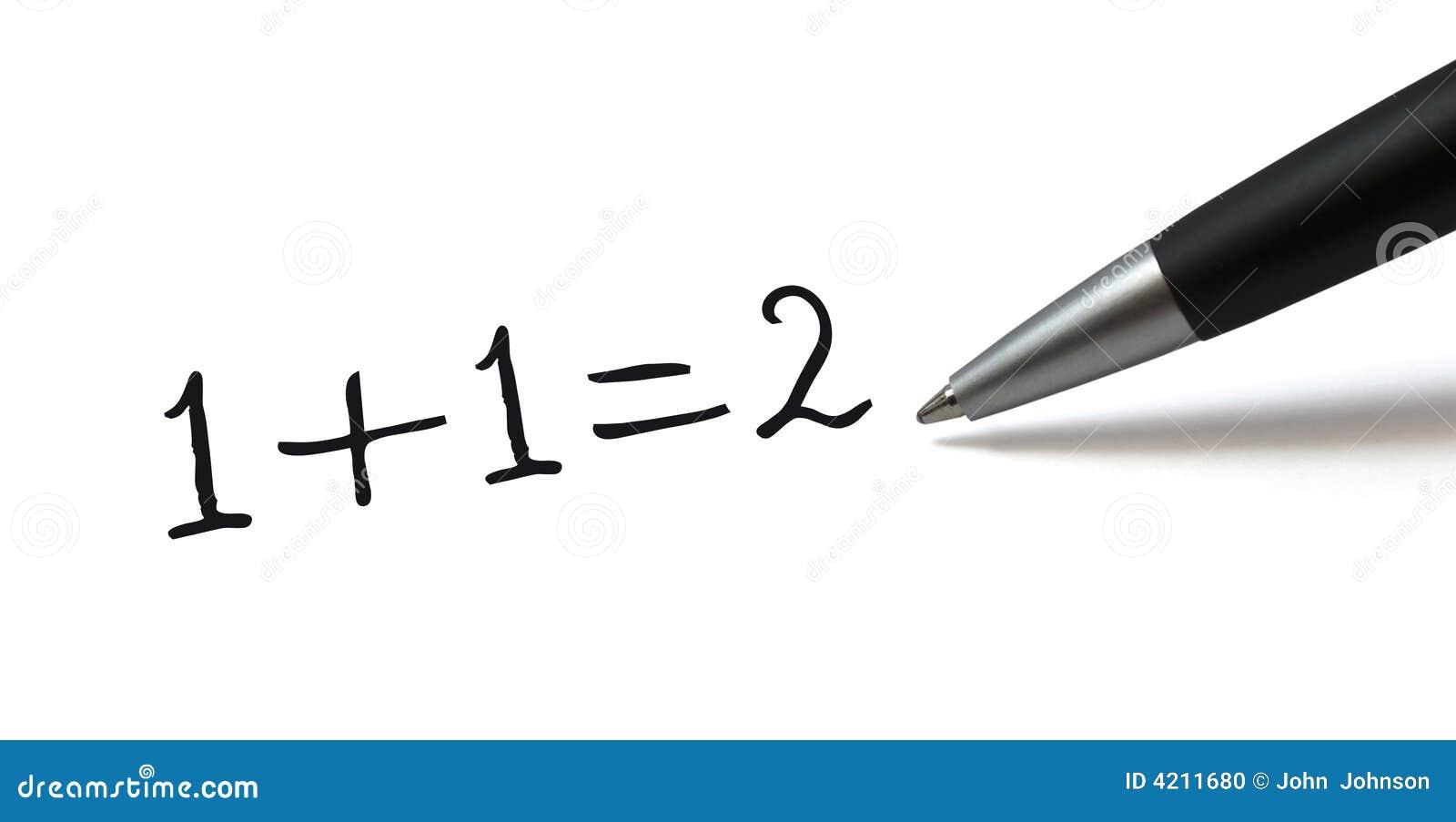 formule simple de maths photo stock image 4211680. Black Bedroom Furniture Sets. Home Design Ideas