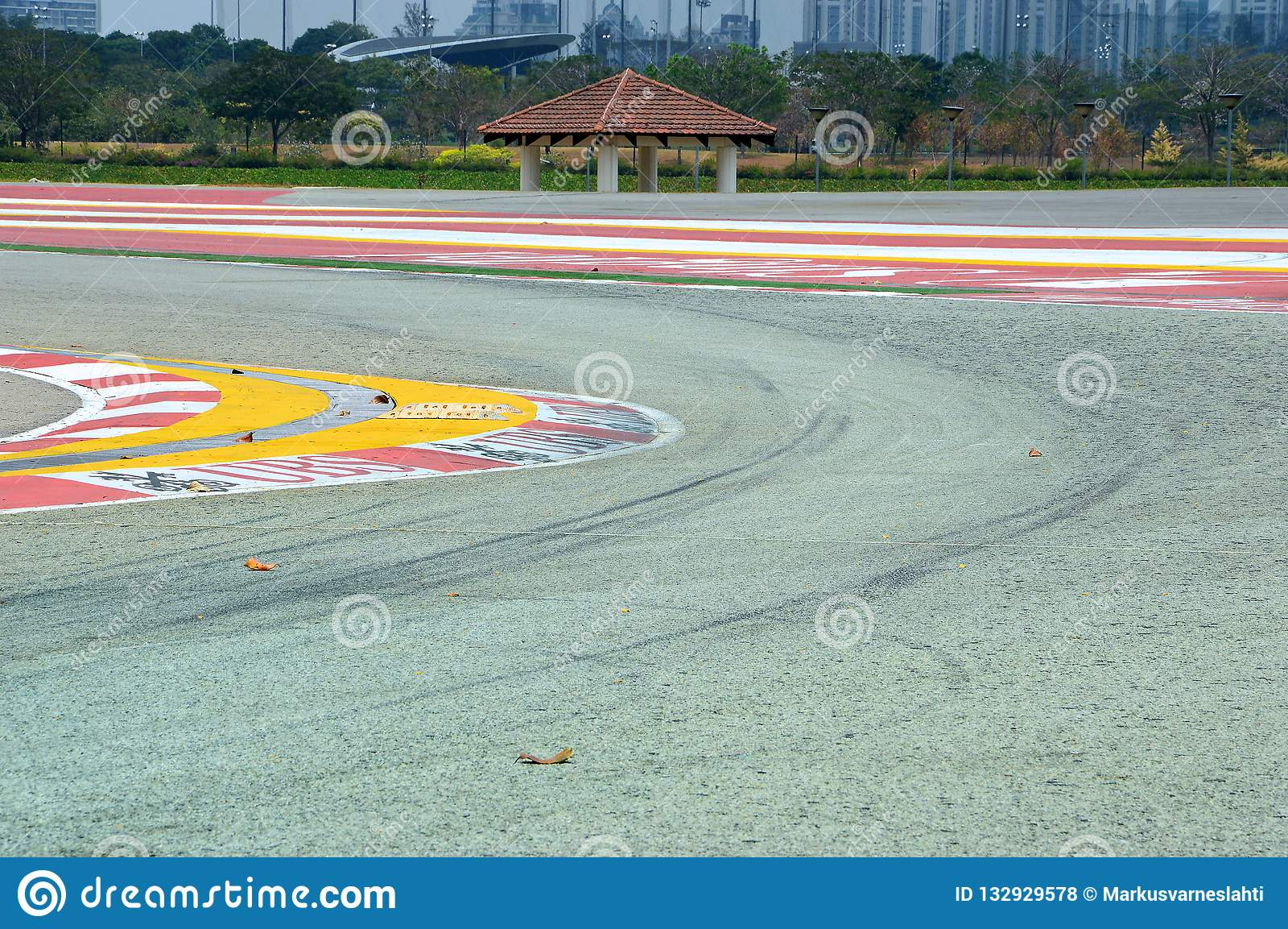 Formule 1 spoorkromme in Singapore