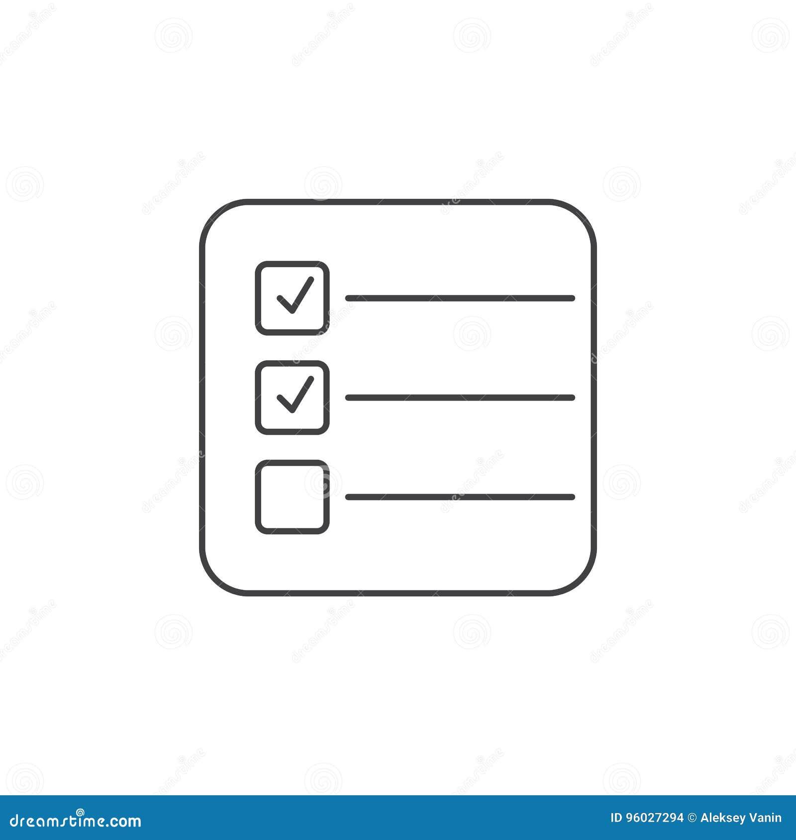Formy cienka kreskowa ikona, próbnego konturu loga wektorowa ilustracja, chec
