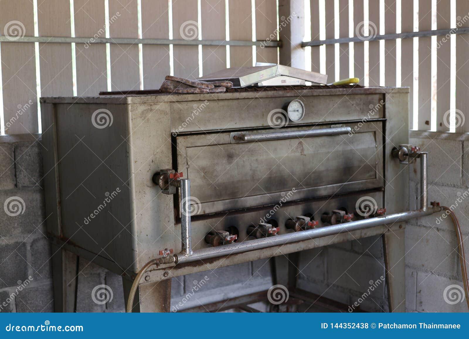 Forno de aço inoxidável do pão feito do aço antiquado grosso
