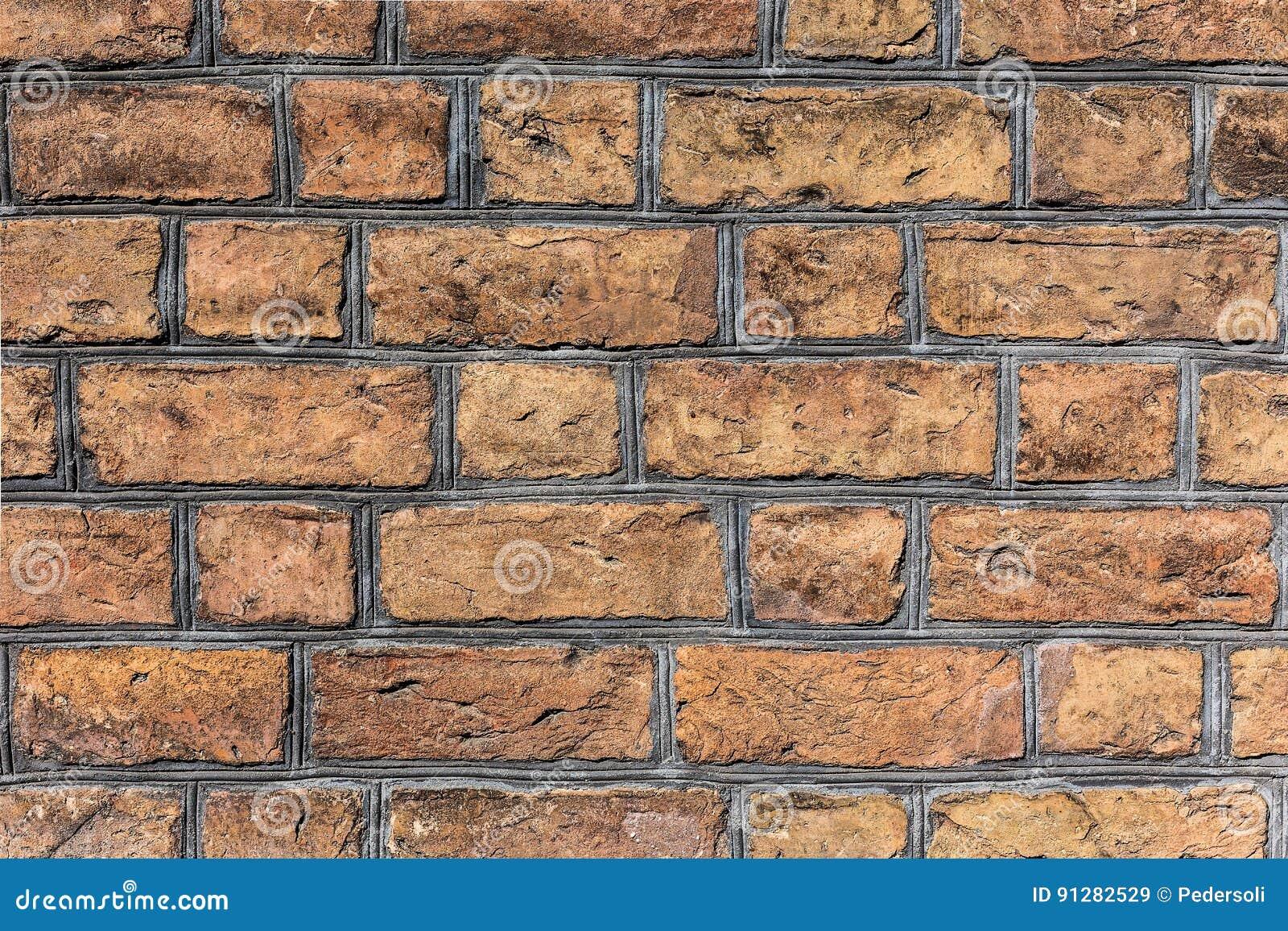 Forntida antik textur för tegelstenvägg