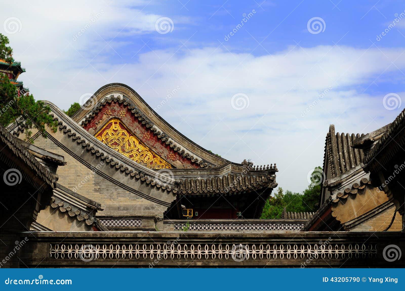 Download Forntida arkitekturkines arkivfoto. Bild av slott, tree - 43205790