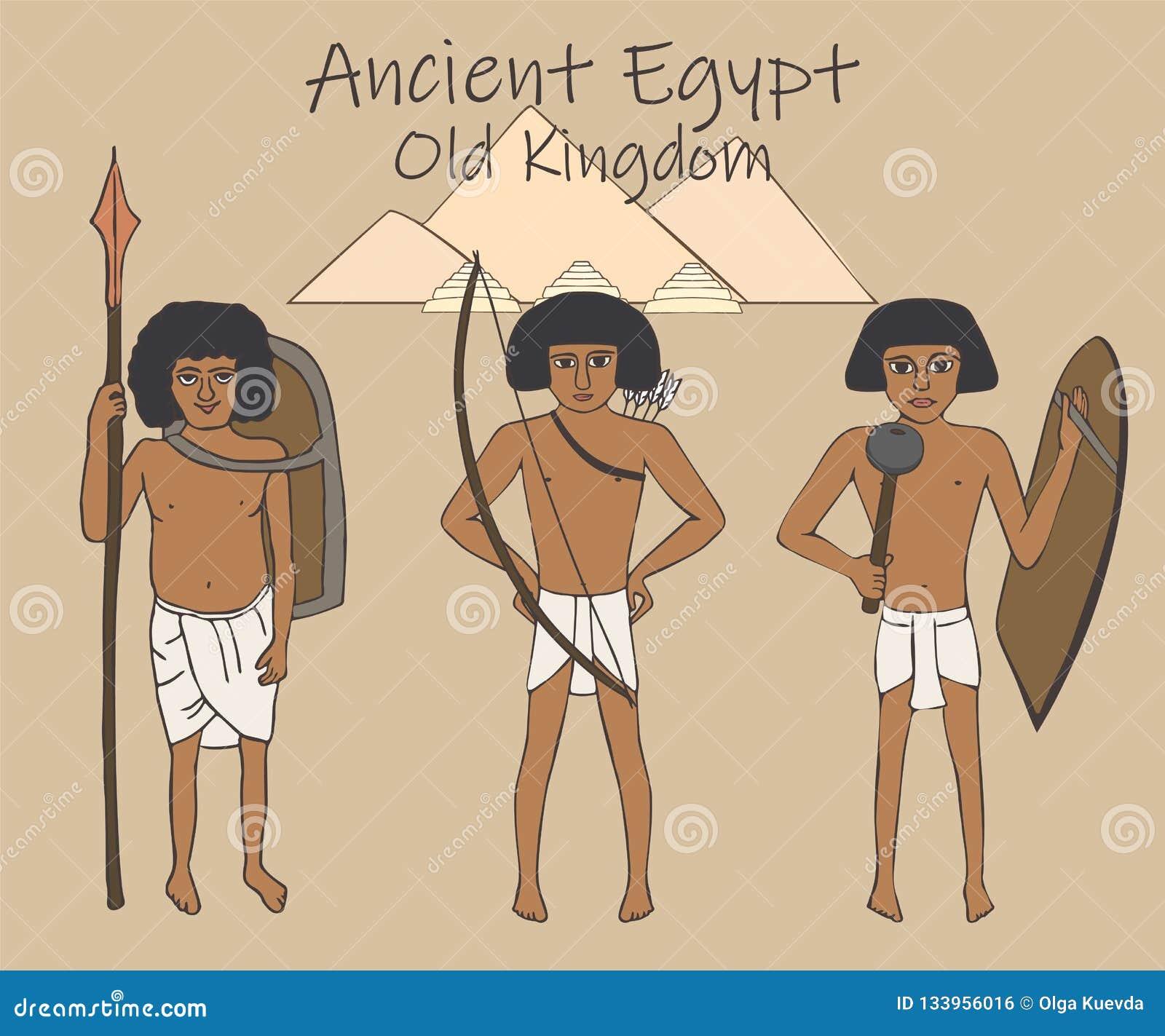 Forntida egyptisk gammal kungarikebeväpningtecknad film