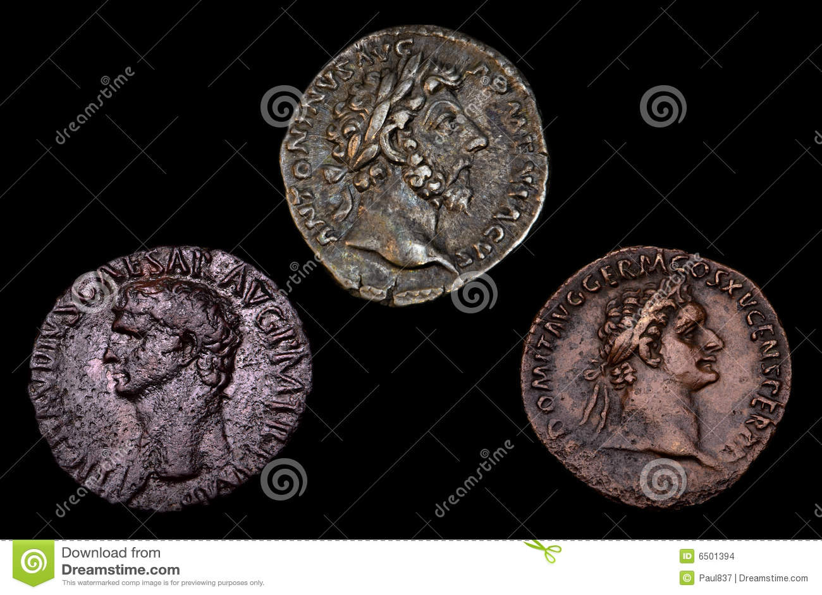 Forntida mynt roman tre