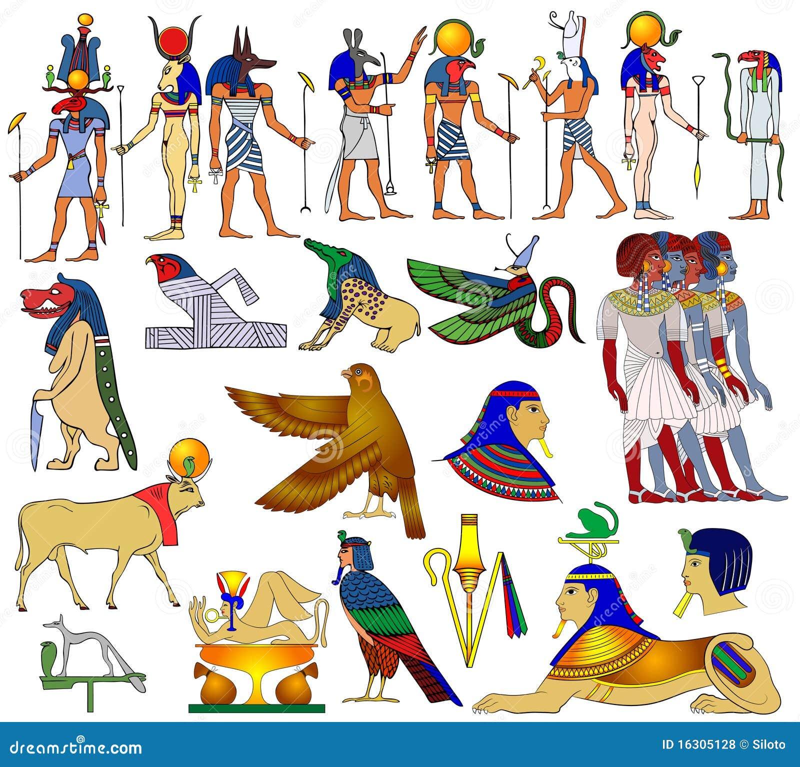 Forntida olika egypt teman