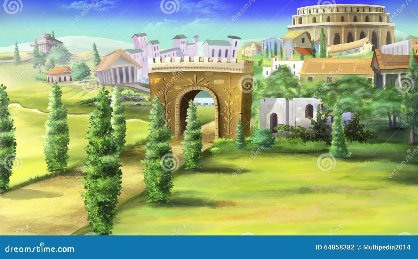 Forntida Rome och Coliseum