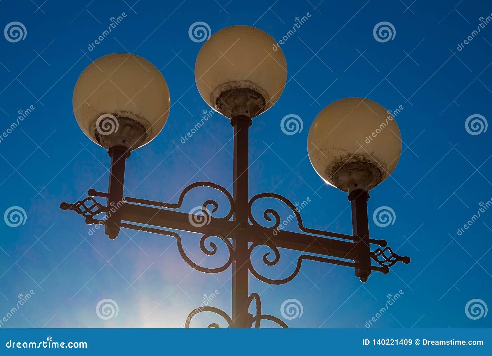 Forntida streetlightkonstfoto