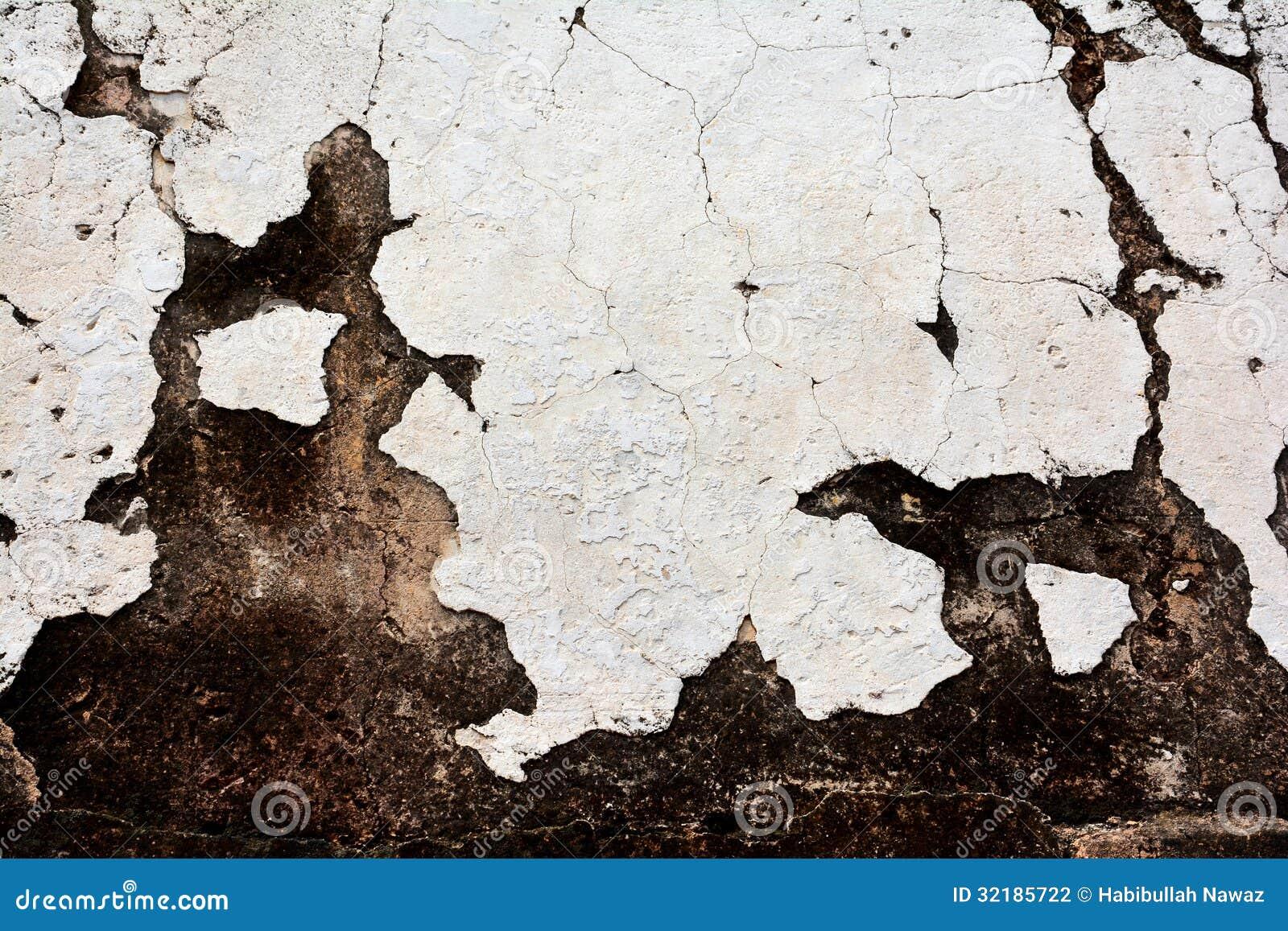 Forntida vit leravägg