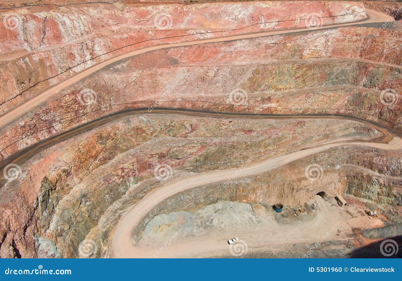 Download Foro Della Miniera Profonda Negli Strati Della Roccia Fotografia Stock - Immagine di mining, pozzo: 5301960
